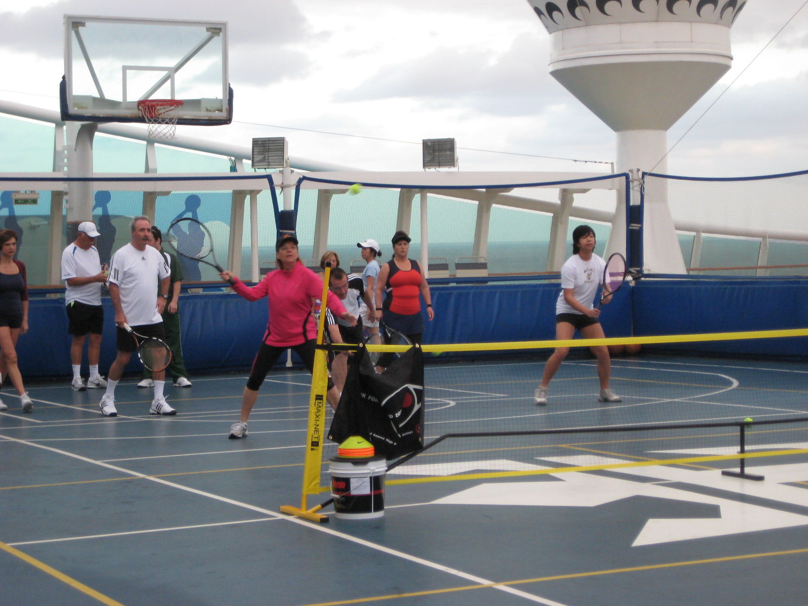tennis on ship